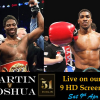 Pubs showing the Joshua v Martin fight