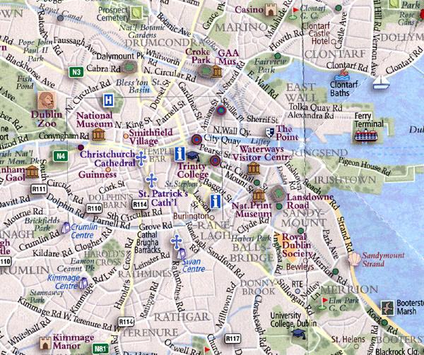 Pub Crawls – Dublin Tourist Map
