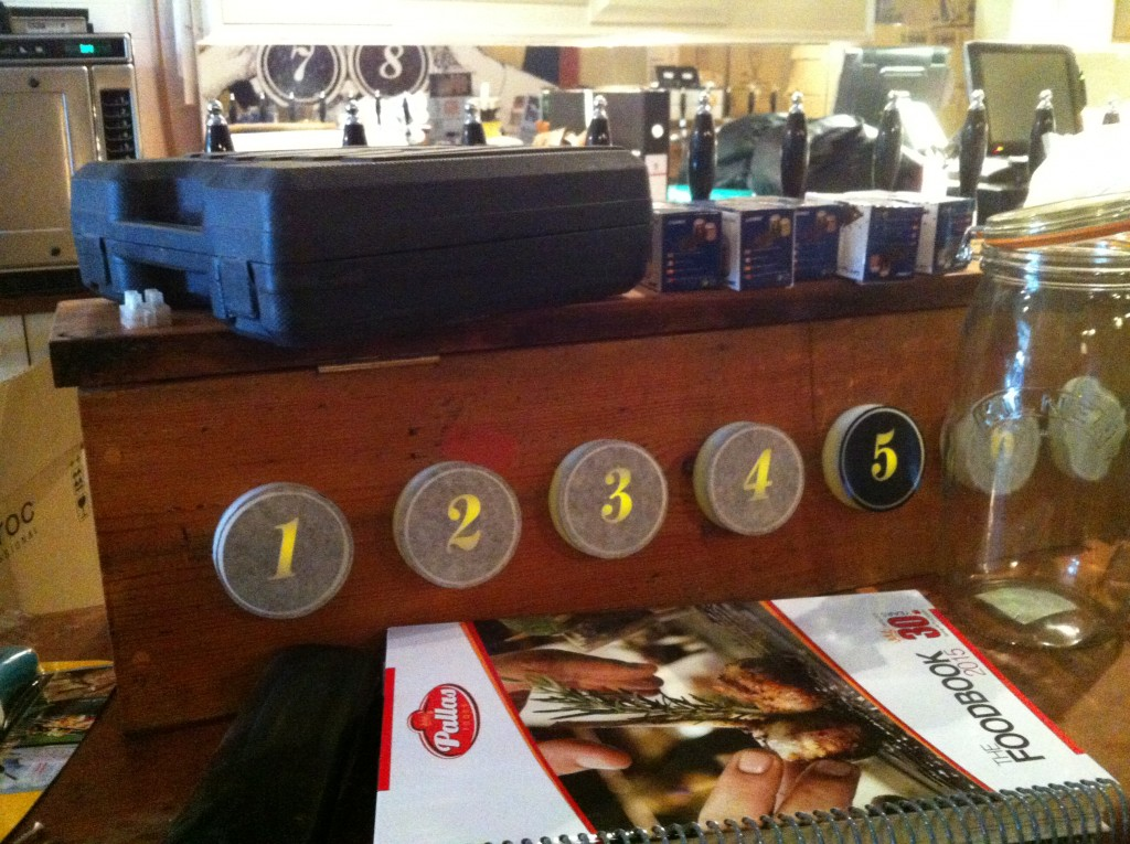 The new numbered tap system.