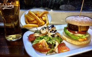 Mercantile burger and a pint deal
