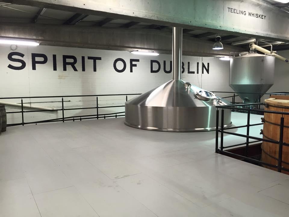Part of the walkway above the distillery floor.