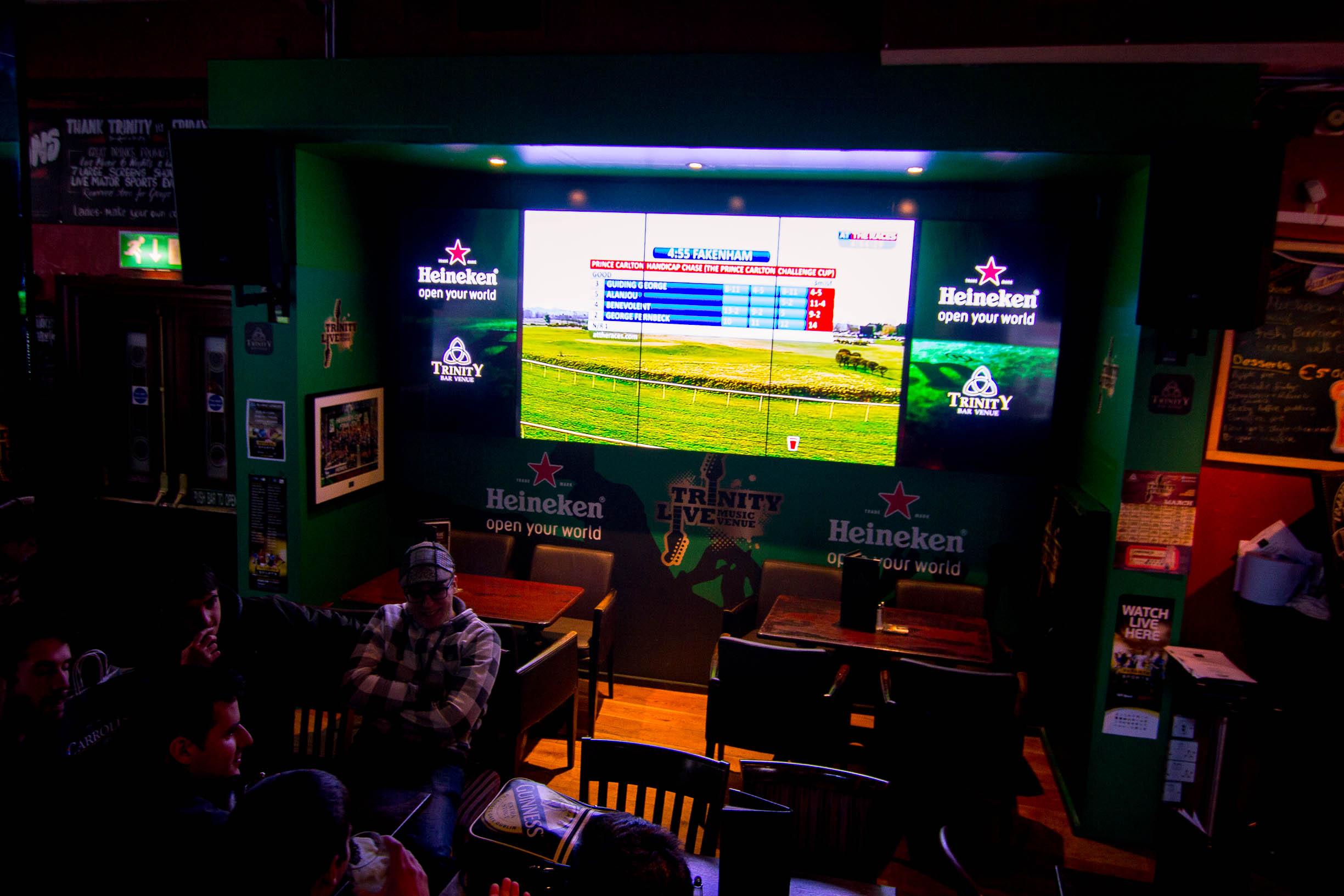 Ultra HD Screen In Trinity Bar