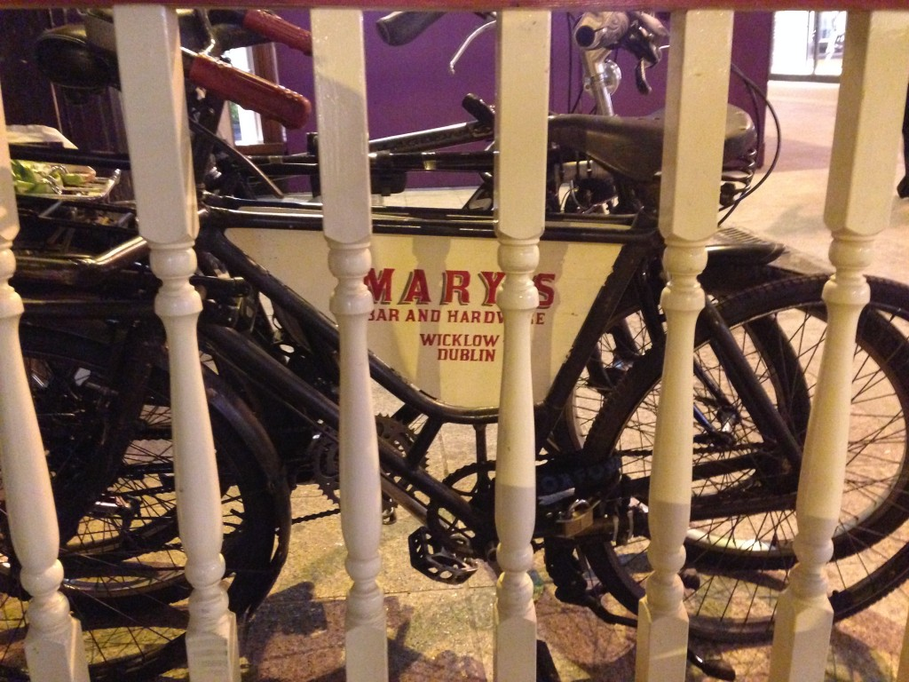 This ones locked outside Marys on Wicklow street.