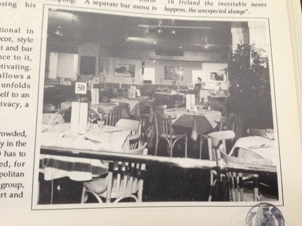 Caspers seating area. Source: Pelican guide to Dublin pubs.