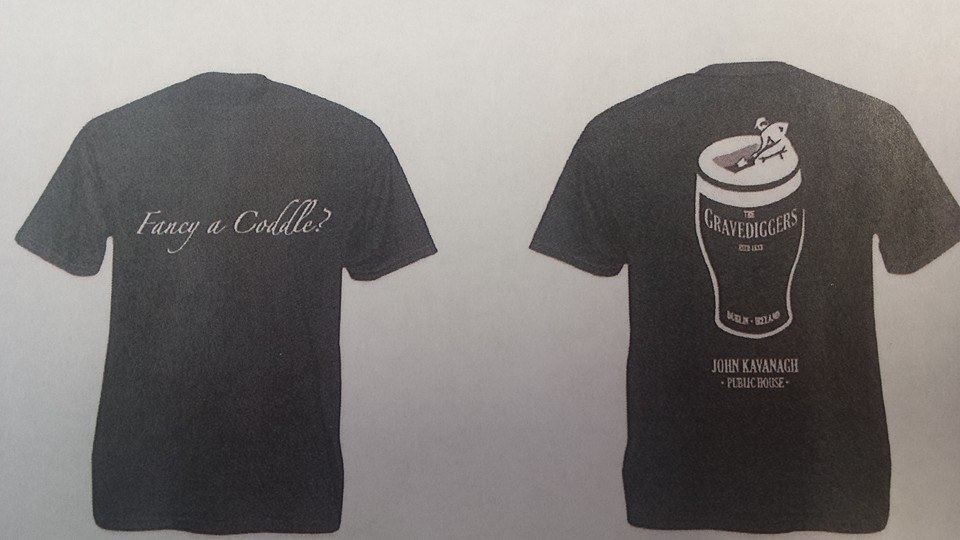 The t-shirts from the Gravediggers celebrating coddle