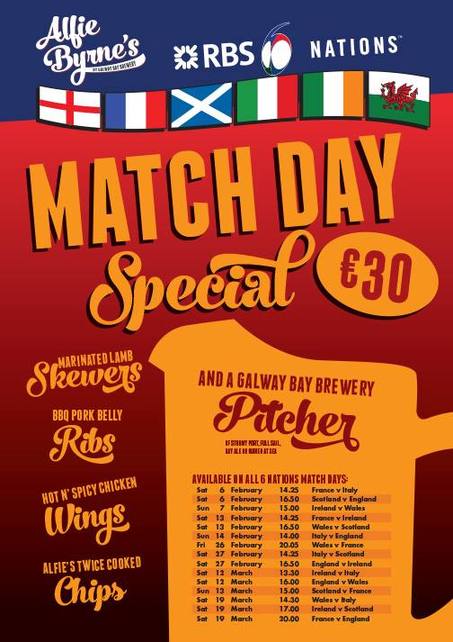 The match day deal in Alfies
