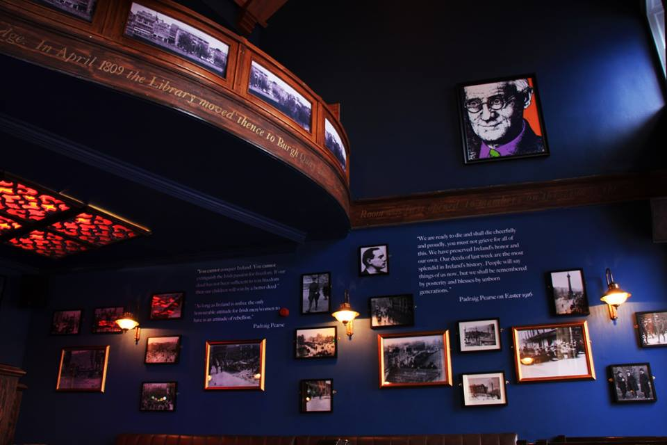 The 1916 commemorative gallery.