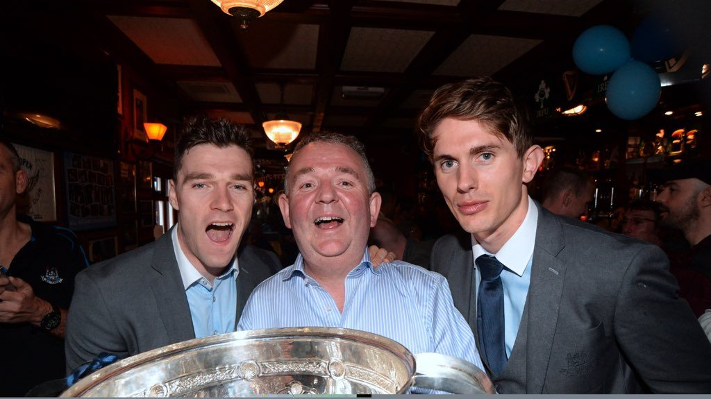 Paddy Andrews and Mick Fitzsimons with Hugh Hourican in 2015.