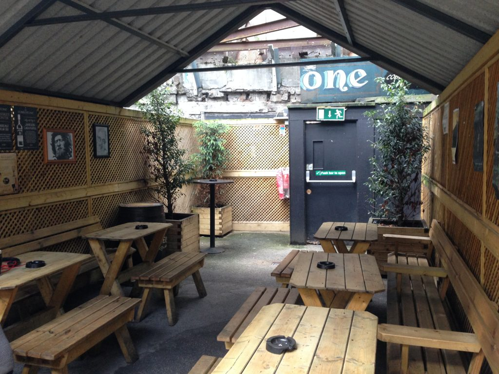 Covered Smoking Area : Covered and warm beer gardens smoking areas publin