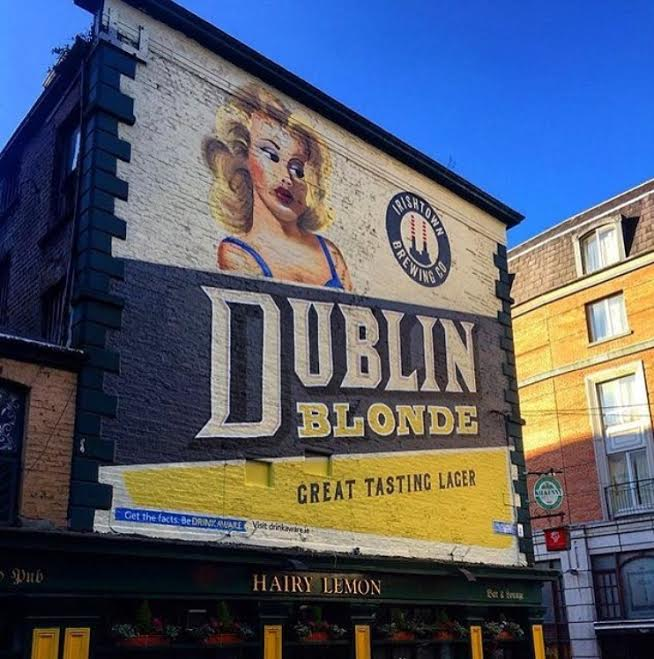 There s a cool new craft beer mural on the side of a for Dublin wall mural