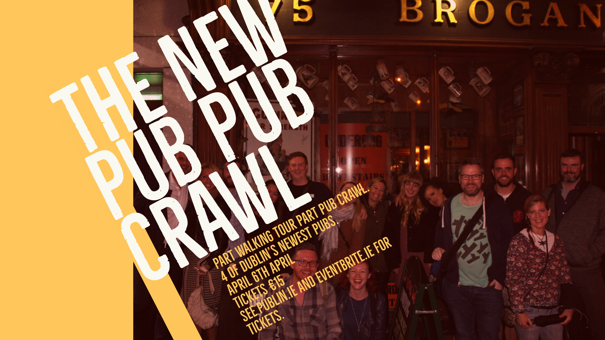 <h3>The New Pub Pub Crawl- Friday 6th April</h3>