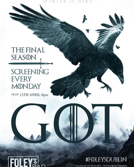 8 Pubs Showing Game Of Thrones Season 8 Publin