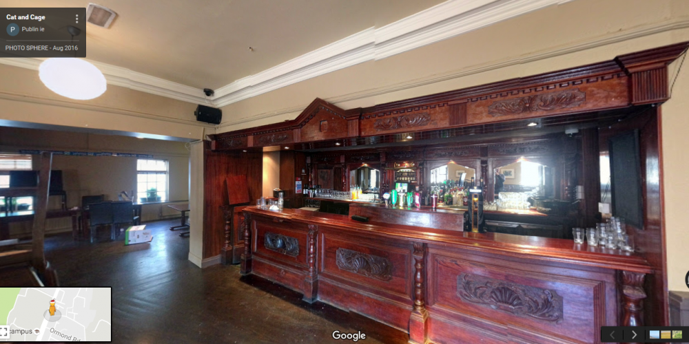 In 360: The Cat and Cage function room.