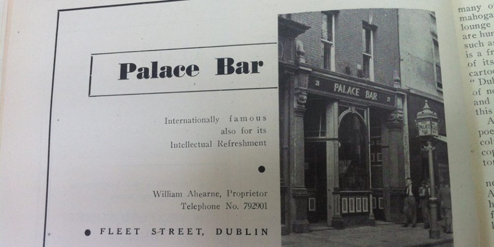 The advert for The Palace bar from 1949