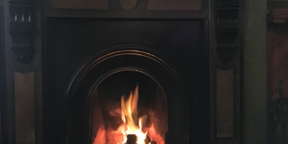 Pubs in Dublin city with a fireplace.