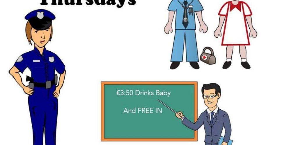 Teachers, nurses, and guards now have an official pub night with €3.50 drinks.