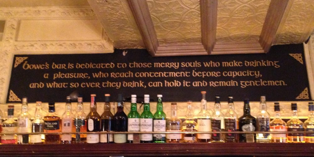 This sign in Bowes perfectly explains the philosophy of going to the pub.