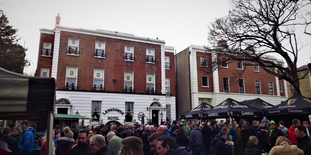 Behold, a pub taking table bookings for the rugby on Paddy's Day