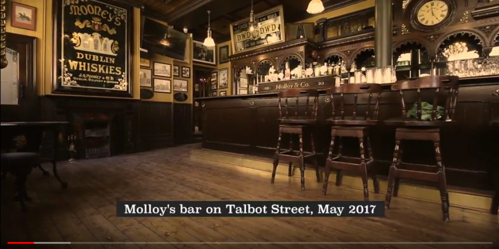 There's a half hour documentary on the restoration of Molloys pub.