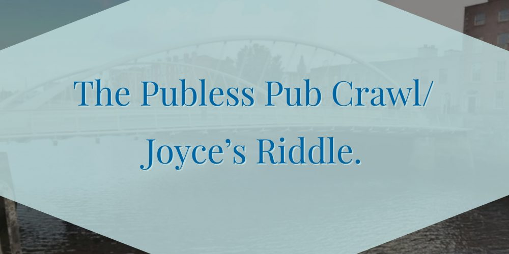 The Publess Pub Crawl/Joyce's Riddle- Private Pub Crawls