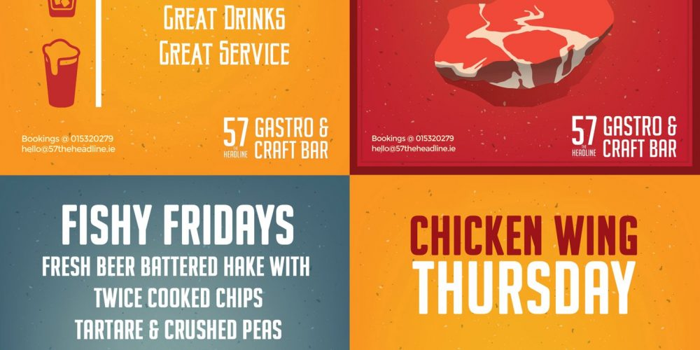 Steaks, wings, and fish. The Headline have some really good new food and drink deals.