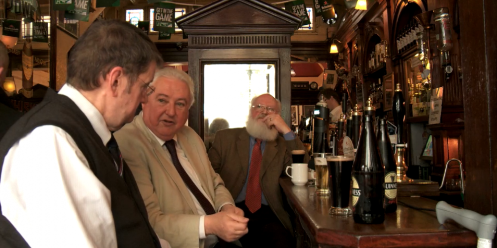 """It's like a confession box"". Watch a few older regulars telling stories in The Palace Bar"