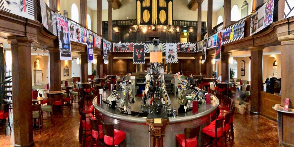 The Church has become the go to bar for U2 fans before gigs. Check out their exhibition and tribute acts this week.