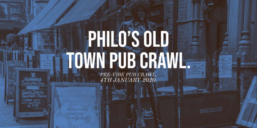 Celebrating the life of Phil Lynott on 'Philo's Old Town Pub Crawl' January 2020.