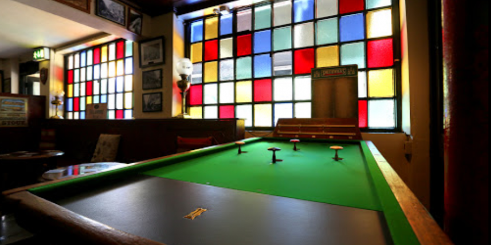 Ever heard of a pub game called 'Bagatelle'? Well there's a pub where you can play the pool-like game.