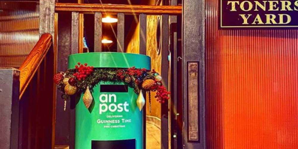 Toner's pub now has it's own post box for a special Christmas cause