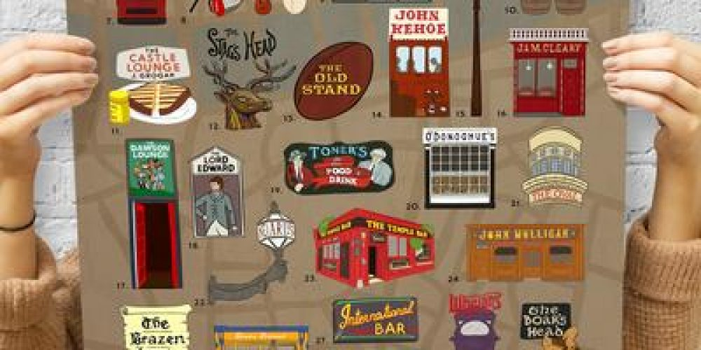 Keep track of all the pubs you've visited with this deadly Dublin pub scratch map.