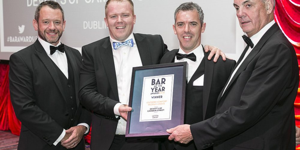 Devitts and Johnnie Foxes win 'People's Choice' Awards at the bar of the year awards.