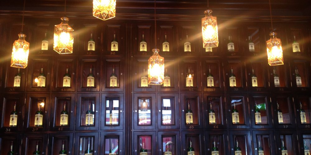 The gift that keeps on giving: A whiskey locker in a Dublin pub.
