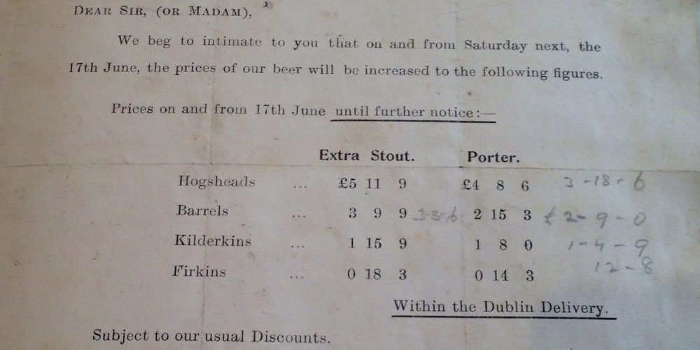 From the archives: Guinness putting up their prices after the 1916 Rising