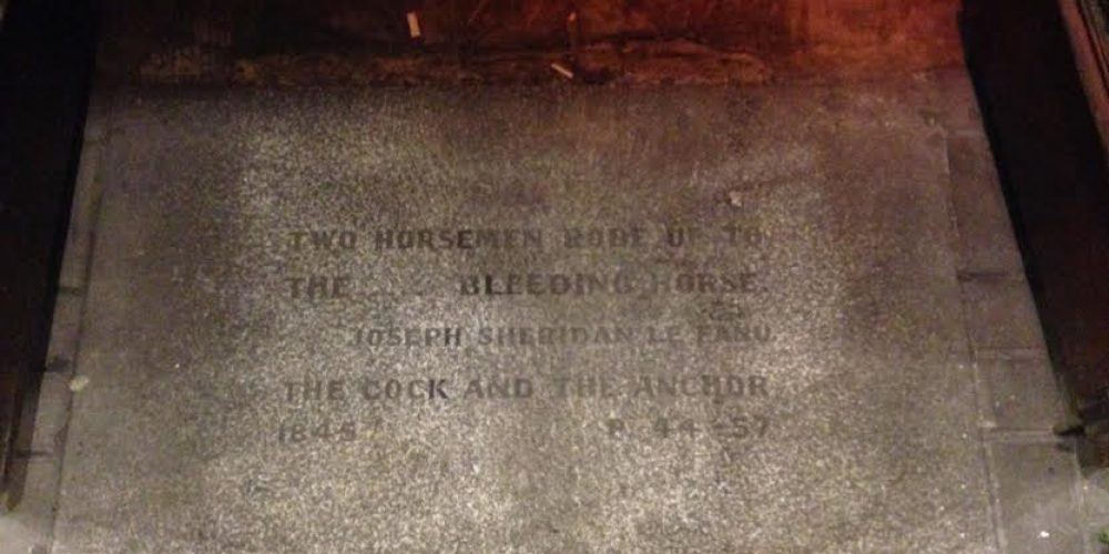 The stone slab with a window into the history of one of Dublin's oldest pubs