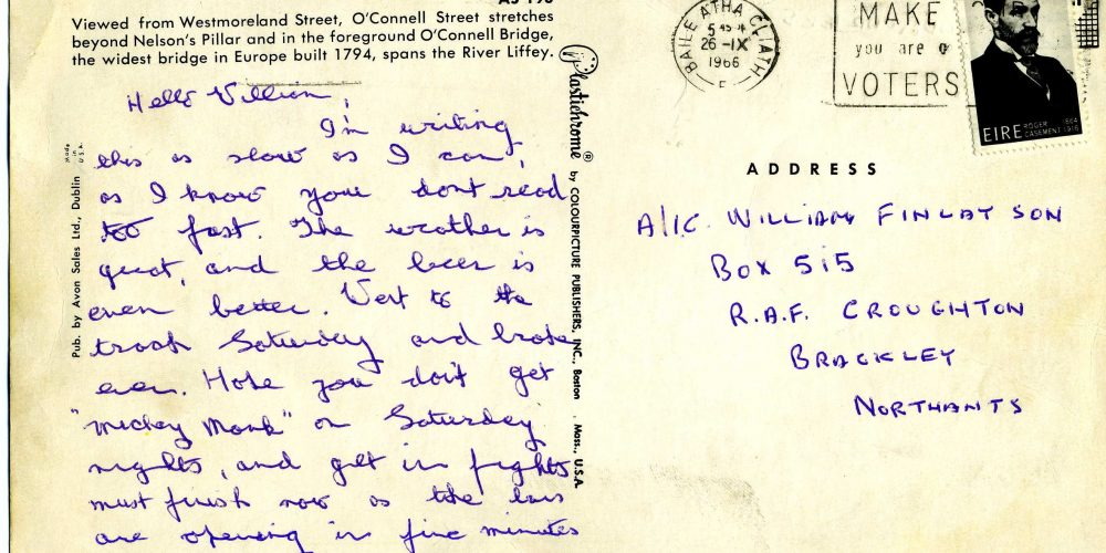 The postcard from 1966