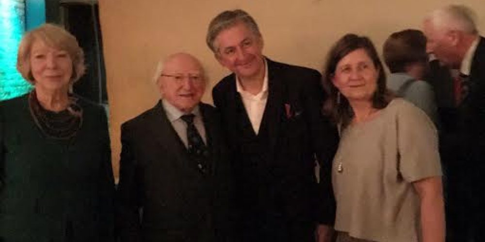 The president of Ireland, Michael D Higgins, was in 4 Dame Lane last night.