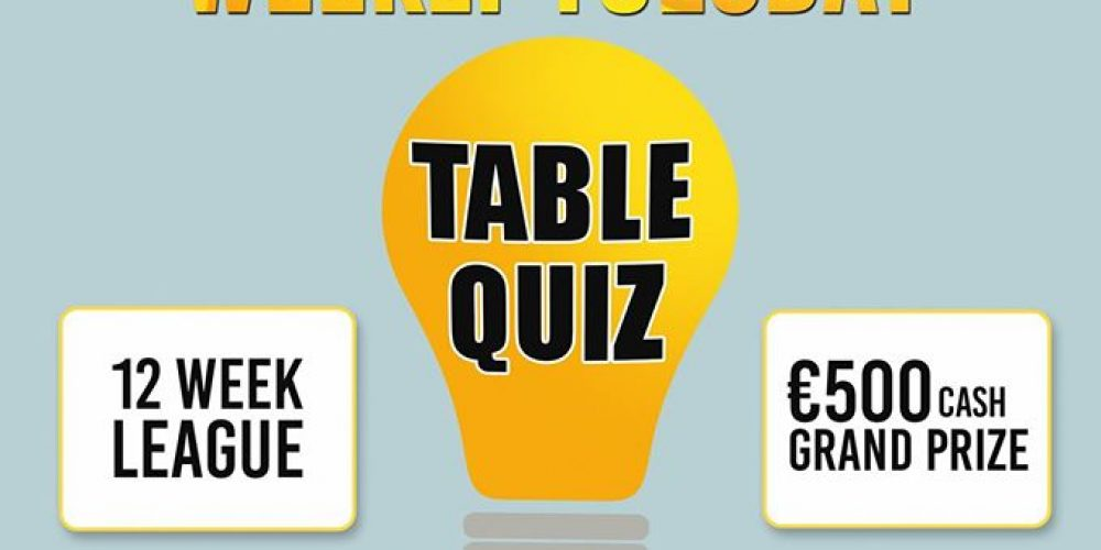 Wiseguys, a new weekly table quiz on Tuesdays