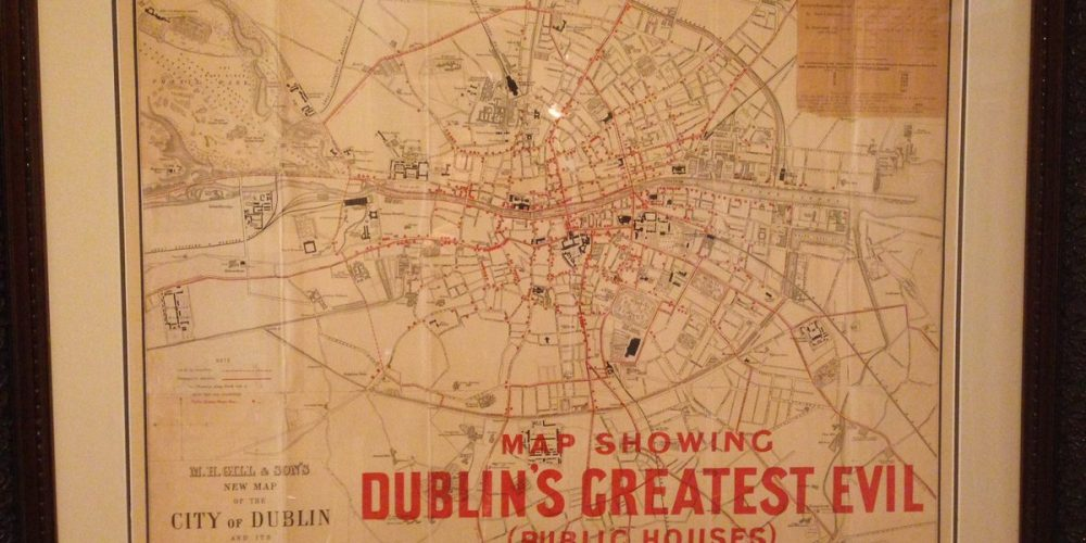 'Dublin's Greatest Evil'; an interesting map from a temperance league.