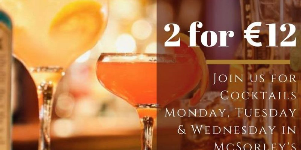 All the daily cocktail deals in Dublin bars