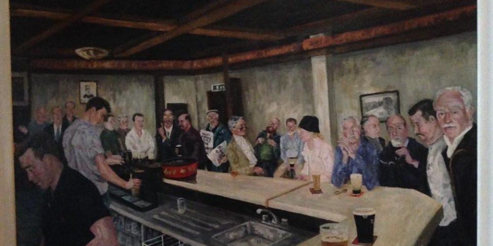 Artwork in The Dame Tavern.