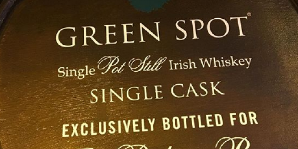 In a world first, The Palace Bar now have their own single cask Green Spot.