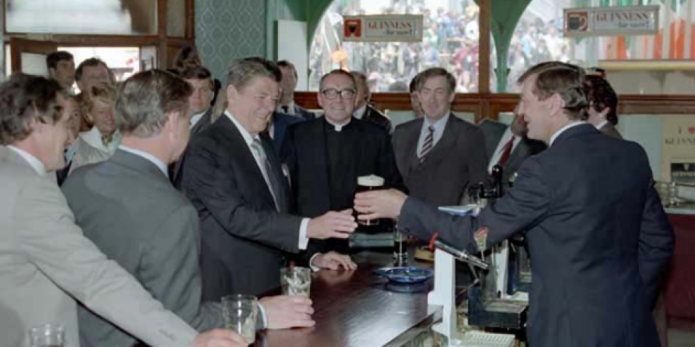 7 American presidents who visited Irish pubs.