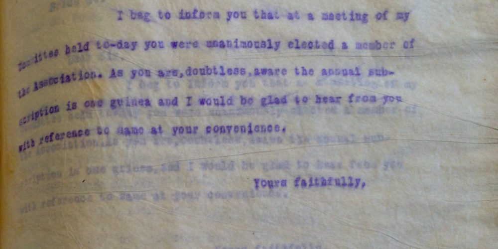 From the archive: Correspondence with Cumiskey's on Dominick Street.