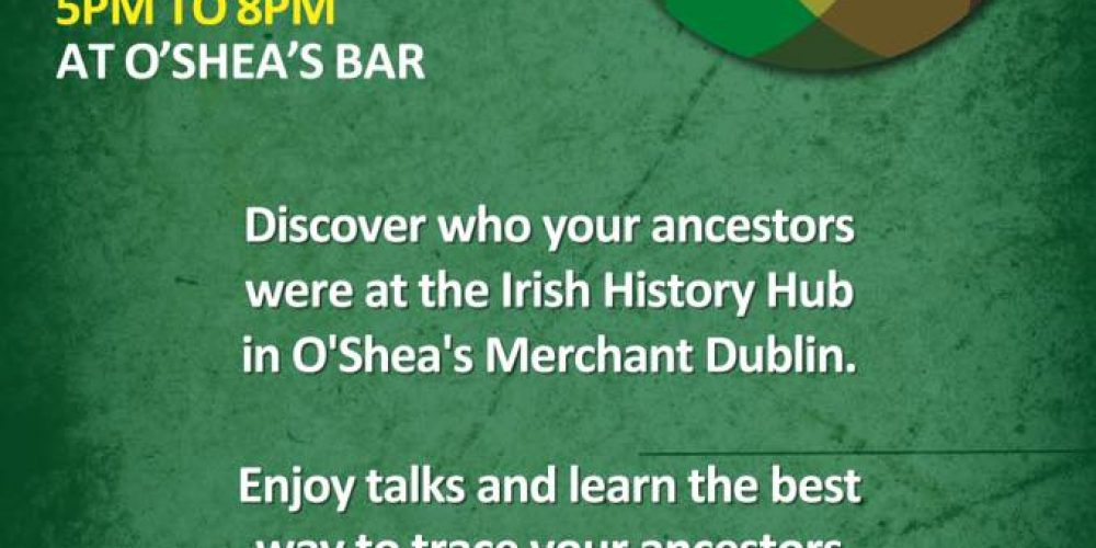 Trace your genealogy in the pub on Culture Night