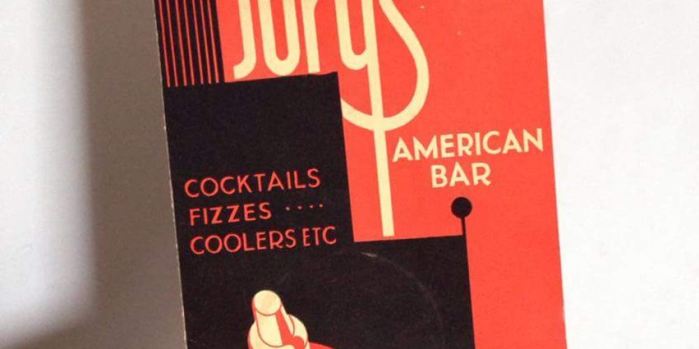 Here's a decades old Jury's cocktail menu.