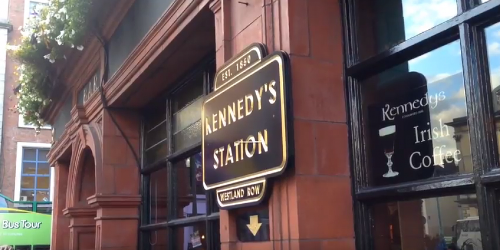 Video: Inside the new 'Kennedy's Station' bar.