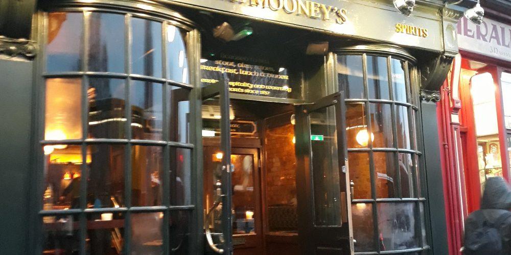 J.P. Mooneys, the new pub on Nassau Street.