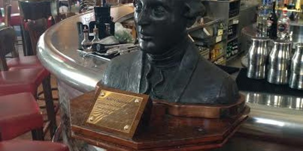 Statues and busts in Dublin pubs.