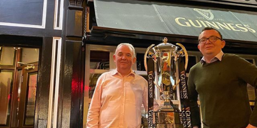 The 6 Nations trophy is on  tour in some great Dublin pubs.